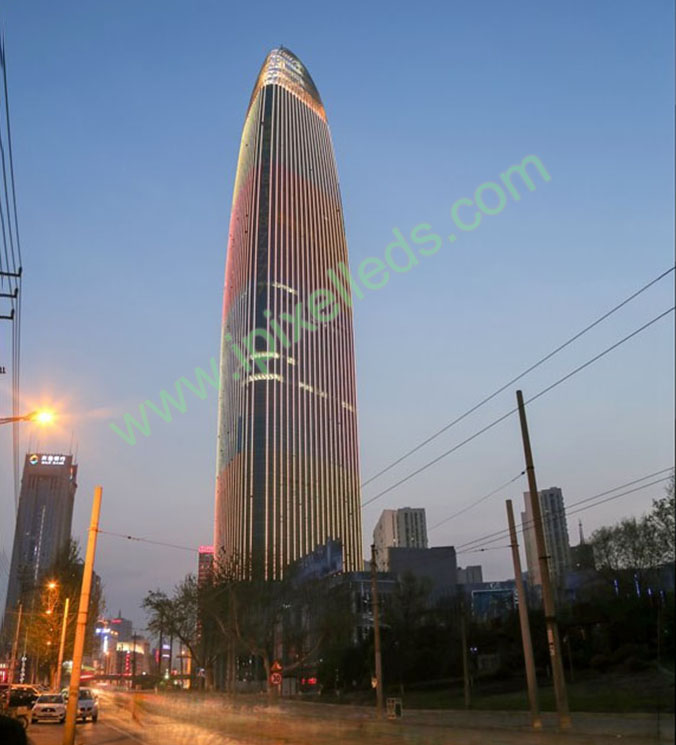Building Illumination in Jinan Greenland center